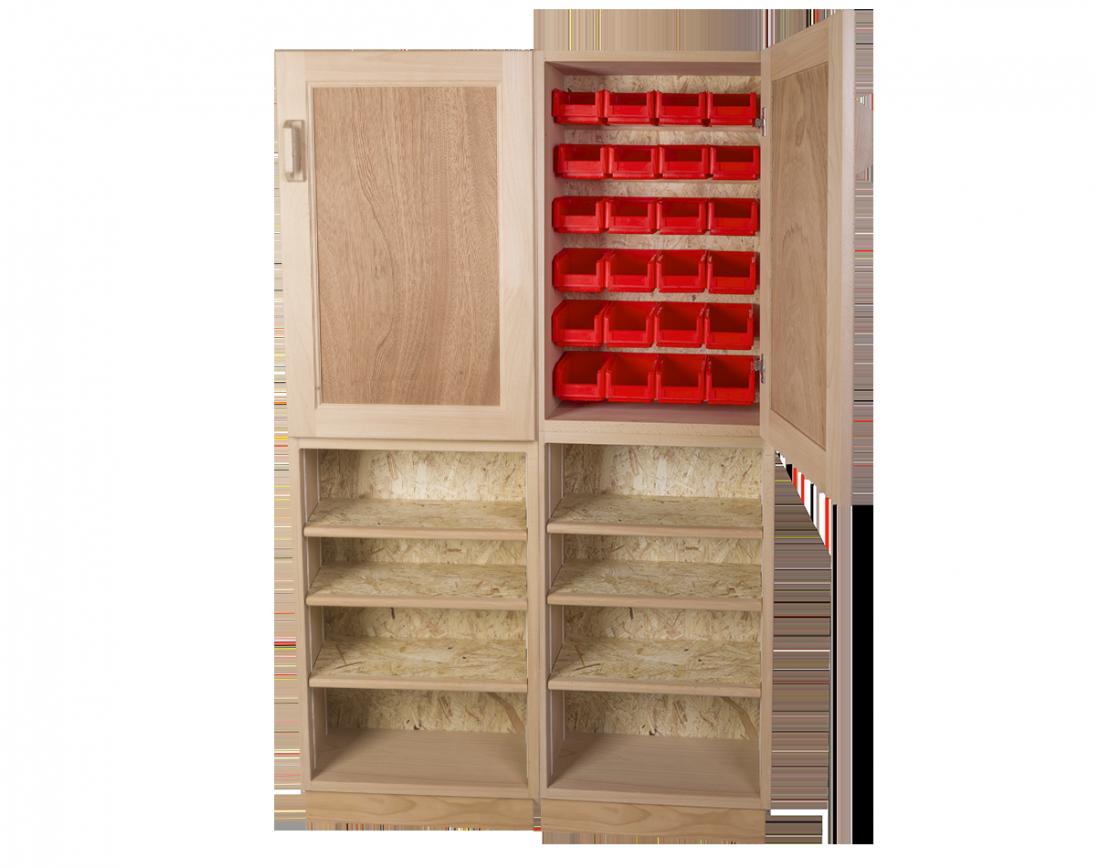 meuble de rangement au sol haut et peu profond 24 bacs bec fournis sas etablis de la ronce. Black Bedroom Furniture Sets. Home Design Ideas