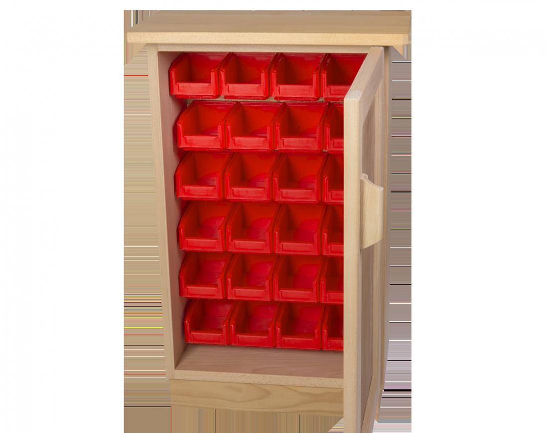meuble de rangement au sol haut et peu profond 24 bacs. Black Bedroom Furniture Sets. Home Design Ideas