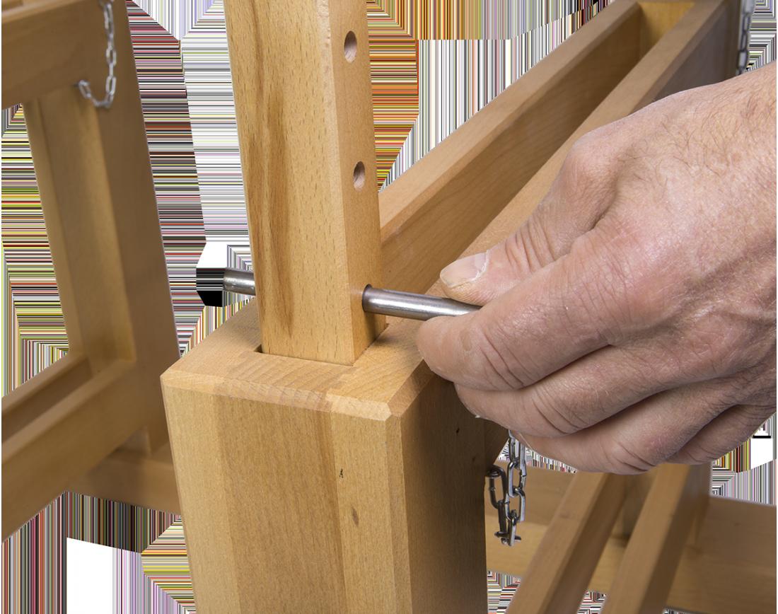 paire de tr teaux r glables en hauteur sas etablis de la ronce. Black Bedroom Furniture Sets. Home Design Ideas
