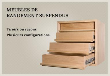 Meubles de rengement suspendus